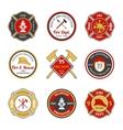Fire department emblems vector image