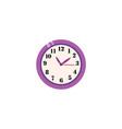 flat analog wall clock icon vector image