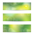 Green banner set vector image