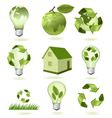 mega set of ecology econs vector image