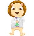 Scientist lion vector image
