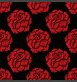 seamless pattern of rose vector image