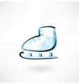 skates grunge icon vector image