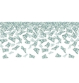 Falling dollar sign money rain Seamless pattern vector image vector image