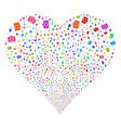 camera fireworks heart vector image