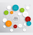 light abstract circles infographic template vector image