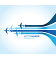 blue planes vector image