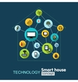 Concept technology- smart house vector image vector image