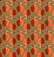 pop art cognac glass seamless pattern vector image