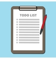 to do list concept tasklist with clipboard vector image