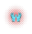 Golf glove icon comics style vector image