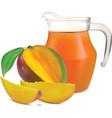 Mango juice vector image
