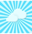 Abstract background Stylized clouds vector image