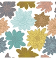Bright colorful floral seamless pattern vector image