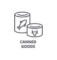 canned goods line icon outline sign linear vector image
