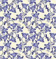 chinese porcelain background with floral pattern vector image