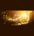 Christmas Gold Ball vector image