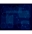 dark blue background with geometric shapes vector image