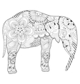 Hand drawn zentangle Elephant with mandala for vector image