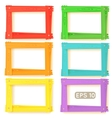 Wooden picture frames color set vector image