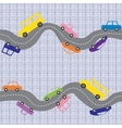 Seamless road background vector image vector image