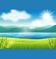 beautiful summer view vector image vector image