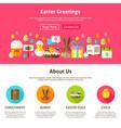 easter greeting website design vector image