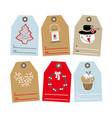 set of tags for gifts vector image