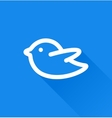 Blue bird social media web icon vector image