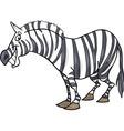 cartoon illustration of funny african zebra vector image
