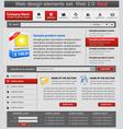web design elements set red vector image vector image