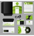 Corporate Identity Eco Design With Green Tree vector image