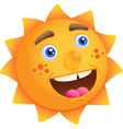 cartoon sun vector image