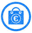euro shopping bag rounded icon rubber stamp vector image