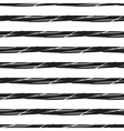 Grunge stripes seamless pattern black horizontal vector image