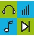 music set icons design vector image