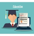 online learning design vector image