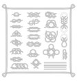 Sea boat knots set vector image