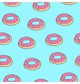 seamless pattern donut vector image