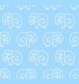 seamless pattern of white simple elephant vector image
