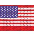 usa brick wall vector image
