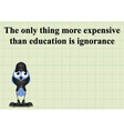 Education expensive vector image vector image