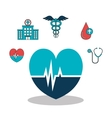 set medical healthcare icons vector image