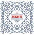 Seafood Menu modern idea Elegant frame with marine vector image