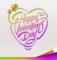 Valentines Day greeting sign - vector image
