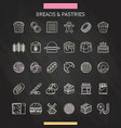 bread and pastry chalk vector image