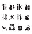 bamboo icons set vector image