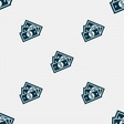 Us dollar icon sign Seamless pattern with vector image