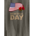 Memorial Day in USA US American flag rose and vector image
