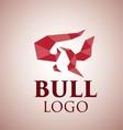 bull logo 2 vector image